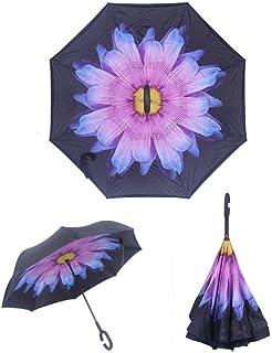 49ccdf068011 Amazon.com: YoCozy Inverted Umbrella Windproof Golf Reverse Umbrella ...