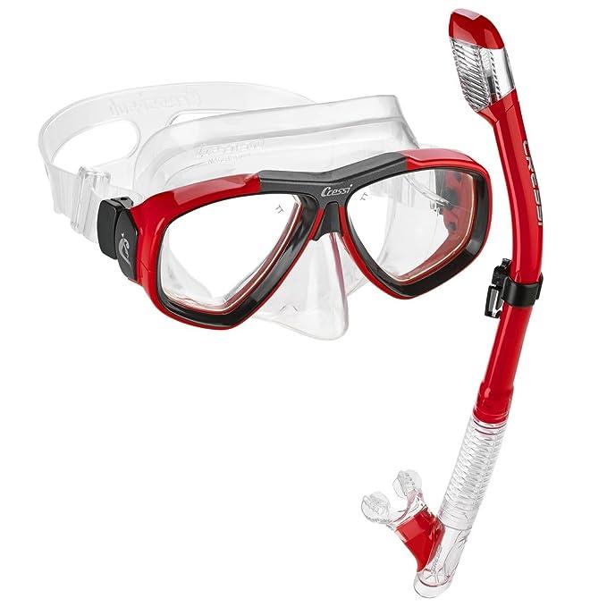 4. Cressi Marea Mask Tao Dry Snorkel Set