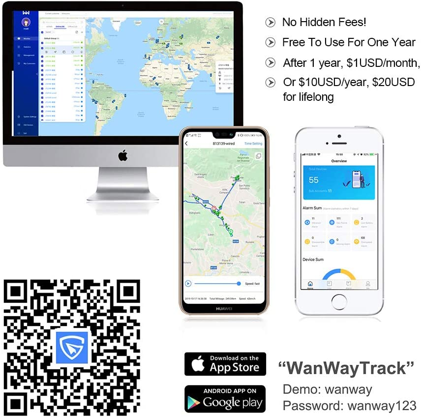 Fleet Management GPS Tracker-4G Portable Device- Real Time Tracking -Free Installation- 5000mAh Battery Suitable for Car Owner and Car Rental Loan Vehicles Transport Industries