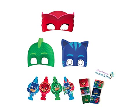 PJ Masks Blowouts & Masks Party Favor Set (16 pieces)
