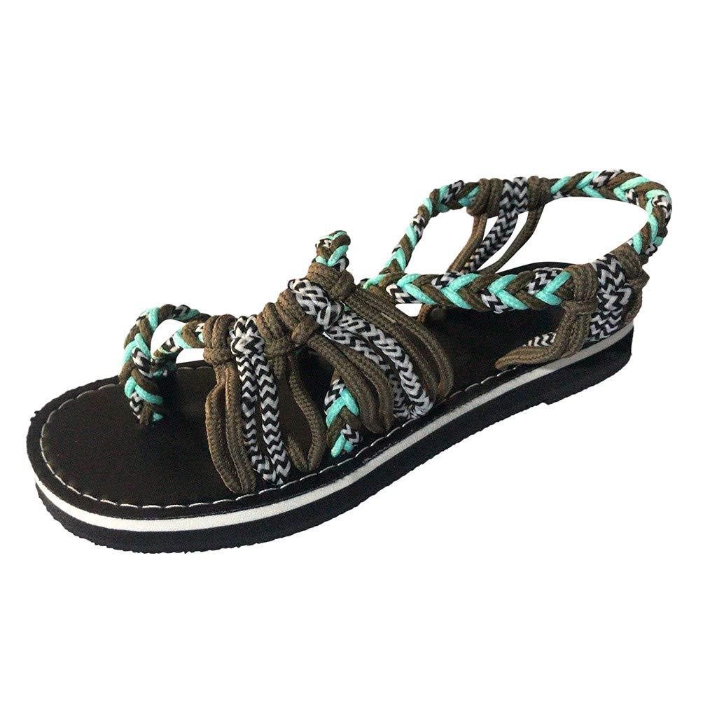 GNYD Sandalias Mujer Verano 2019 Plataforma Playa Romanas Casual,Zapatillas De C/á/ñAmo Cuerda Chanclas Moda Zapatillas
