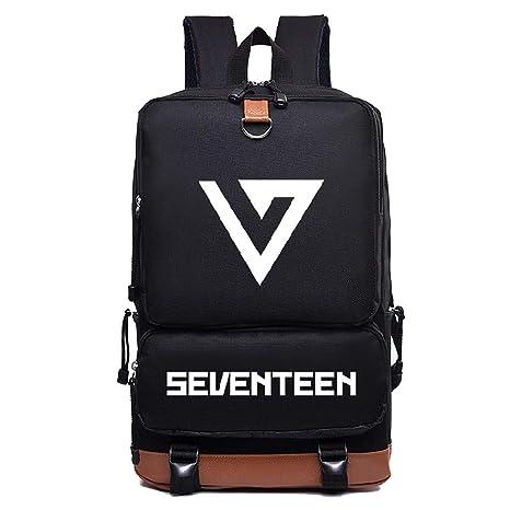 Luggage & Bags Seventeen 17 Korean Stars Black Backpack Bag School Book Bags Laptop Boys Girls Back To School Gift Casual Backpacks