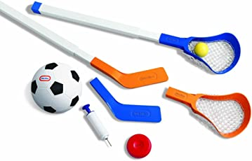 Little Tikes Easy Score Soccer, Hockey, Lacrosse Set with Net