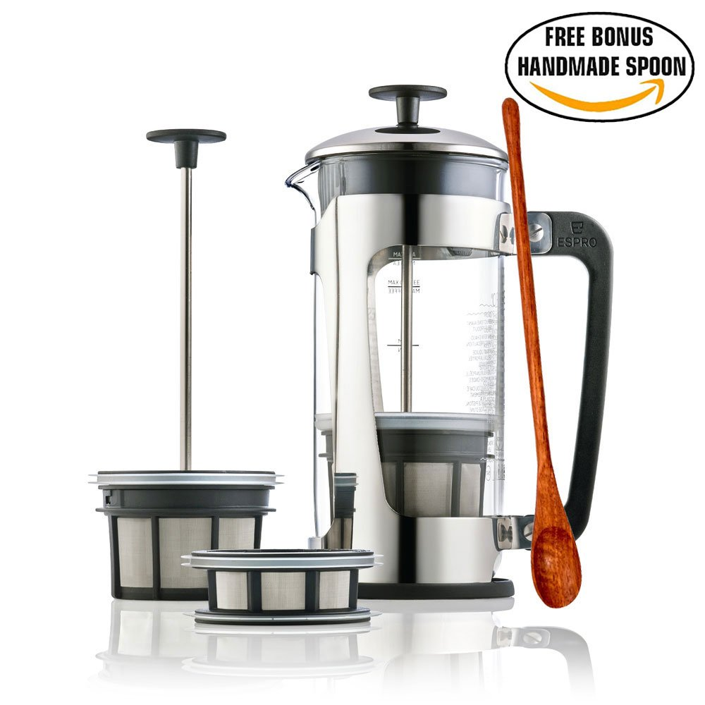 Espro Press P5 - French Press Coffee Press with Double Filter
