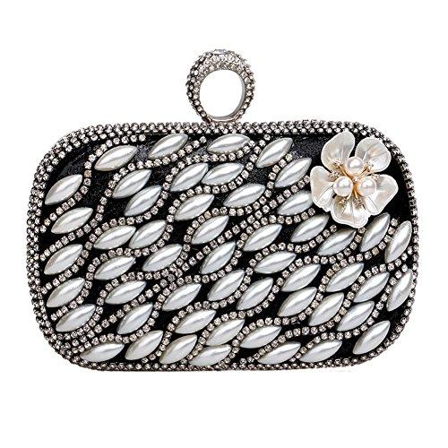 Charm 1 Ladies Party Luxury QEQE Bag Women's Color Evening 2 Bag Handbag Fashion Pearl q1HzHO