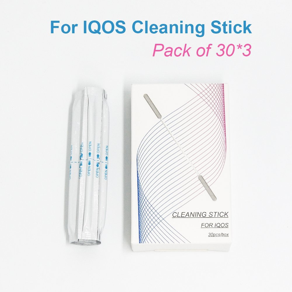 Cleaning Stick For IQOS Electronic Cigarettes Cleaning Cotton Swab 30 PCs x 3 boxes