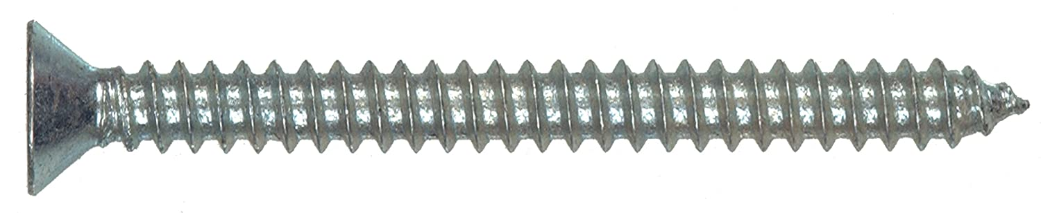 4 x 3//4-Inch 18-Pack The Hillman Group 491407 Flat Head Phillips Sheet Metal Screw