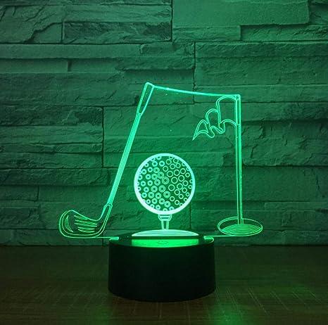 Palos De Golf 3D Lámpara De Mesa Visual De Acrílico ...