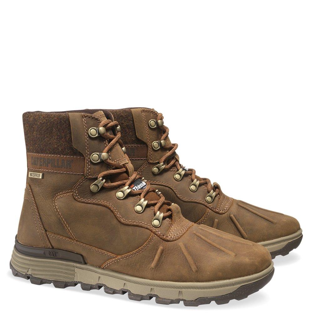 Caterpillar Men's Stiction HI WP Ice+ Outdoor Work Boots (Brown Sugar, 12)