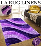 Home Shimmer Shag Purple Lavender Lilac Mauve Plum Area Rug, Hand-Tufted, Hand Made ~8ft' x 10ft' ( Signature BLD 281 Purple )