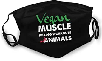 Cloth Face Mask Vegan Muscle Killing Workouts Not Animals Adult Double-Sided Printing Dust Mask