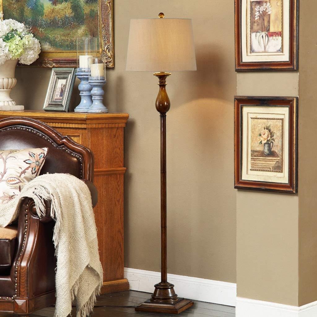 ZH Floor Lamp American Retro Handmade Old Craft Cloth ...