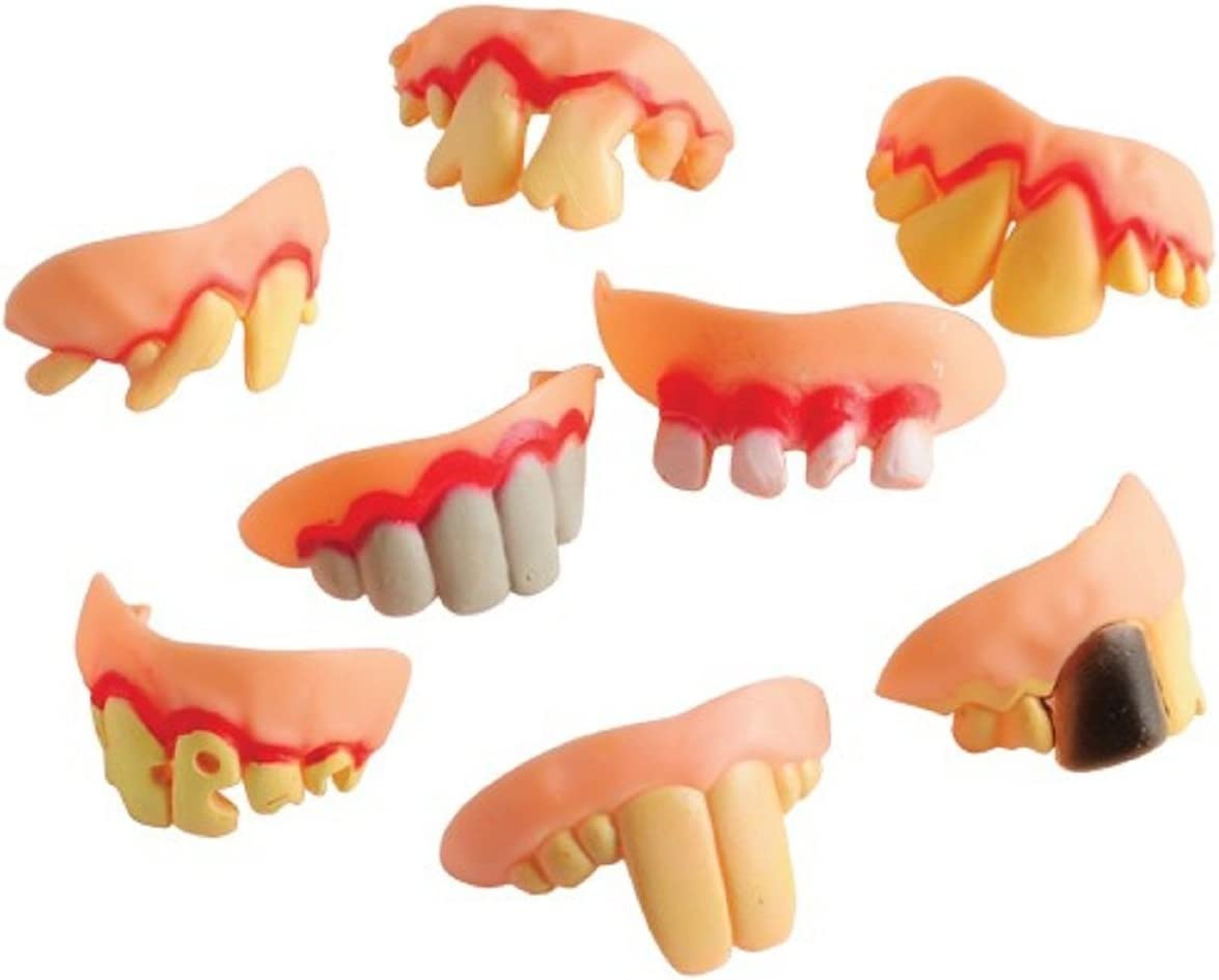 Dopey Teeth (12 Pack) 2 5/8 Inch. Wide Plastic. Fits Most