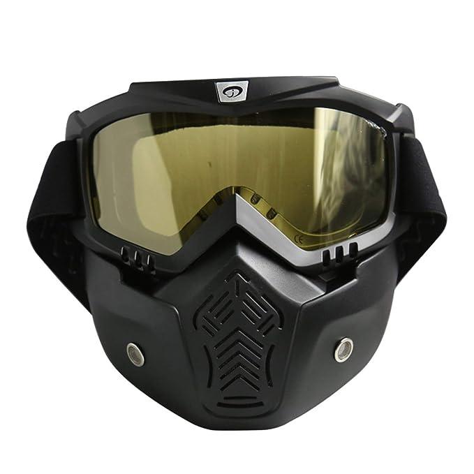 49ca2d63b4 AnazoZ Gafas de Moto Gafas Protectoras Viento Gafas Protectoras Deporte  Gafas Protectoras Gafas de Moto Gafas de Máscara Gafas de Montar Gafas  Negro ...