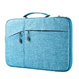 Megoo 13 Inch Sleeve Case for Microsoft Surface Laptop/Book 2 13.5'/iPad pro 12.9'/13.3' MacBook Air/MacBook Pro,13' Chromebook Tablet Laptop Slim Water Resistant Carrying Case with Handle (Blue)