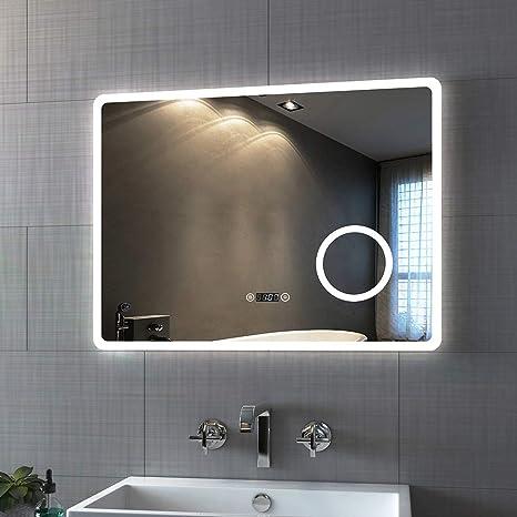 LED Wandspiegel mit Beleuchtung Badezimmerspiegel Touch Badspiegel Lichtspiegel