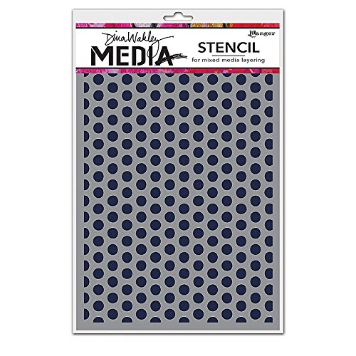 Ranger MDS52432 Dina Wakley Media Stencils 9''X6''-Spaced Dots by Ranger