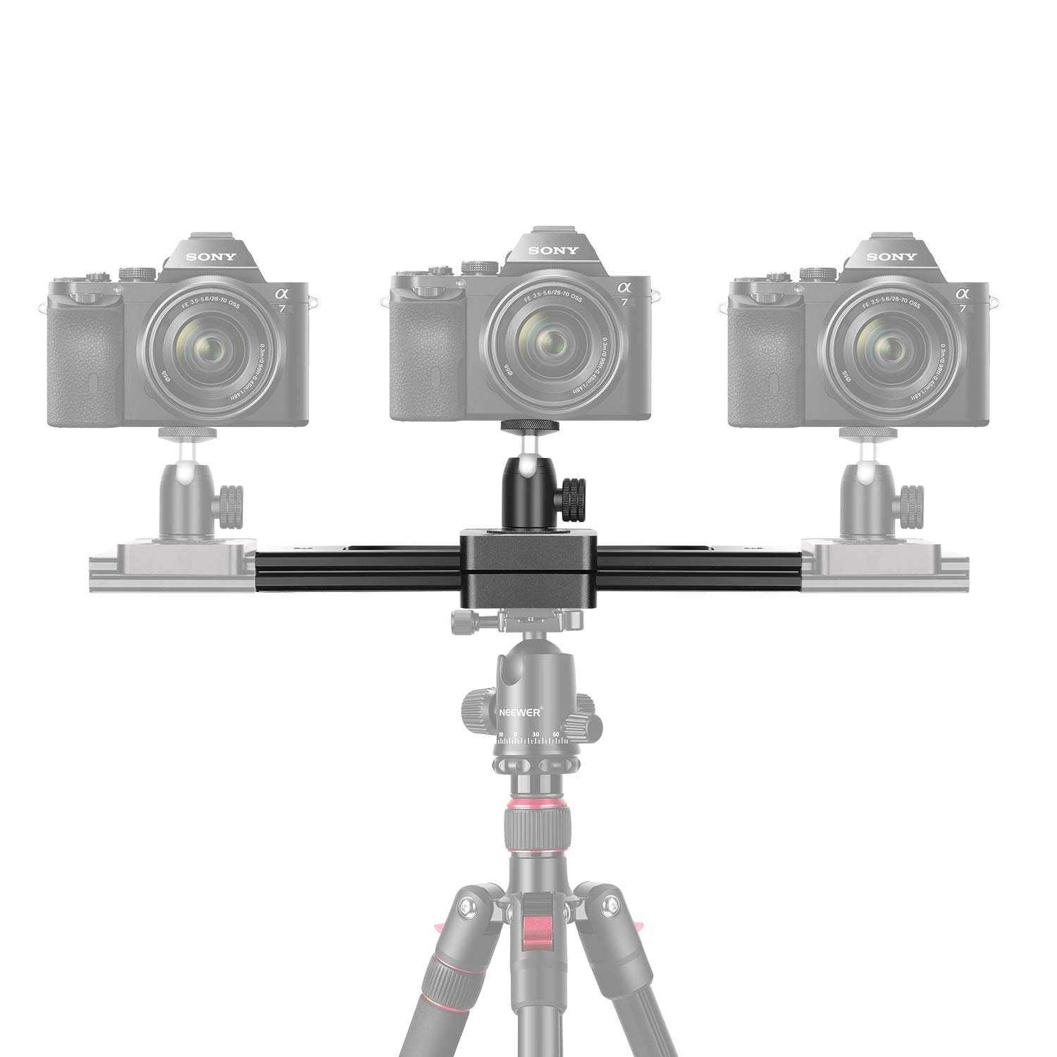 Neewer Portable Mini Camera Video Slider Rail, 9-inch Extendable to 15-inch 2-Way Retractable Damping Dolly Track Rail Slider for Small Camera, Micro-SLR Camera and Smartphones, Max. Load 6.6 pounds by Neewer