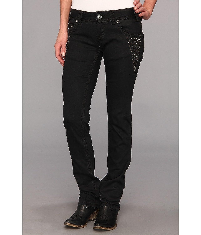 Rock and Roll Cowgirl W0S6710 Black Embellished Skinny Denim