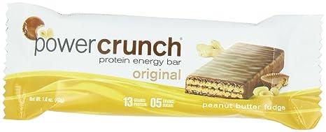 Protein Crunch Energy Power Bar, mantequilla de cacahuete del dulce de azúcar, 12 Bares