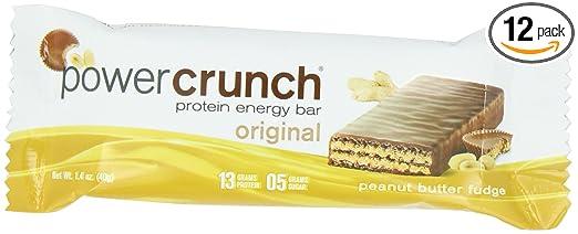 Power Crunch Protein Energy, Peanut Butter Fudge Butter Fudge, 1.4 Ounce Bar (Pack Of 12) by Power Crunch