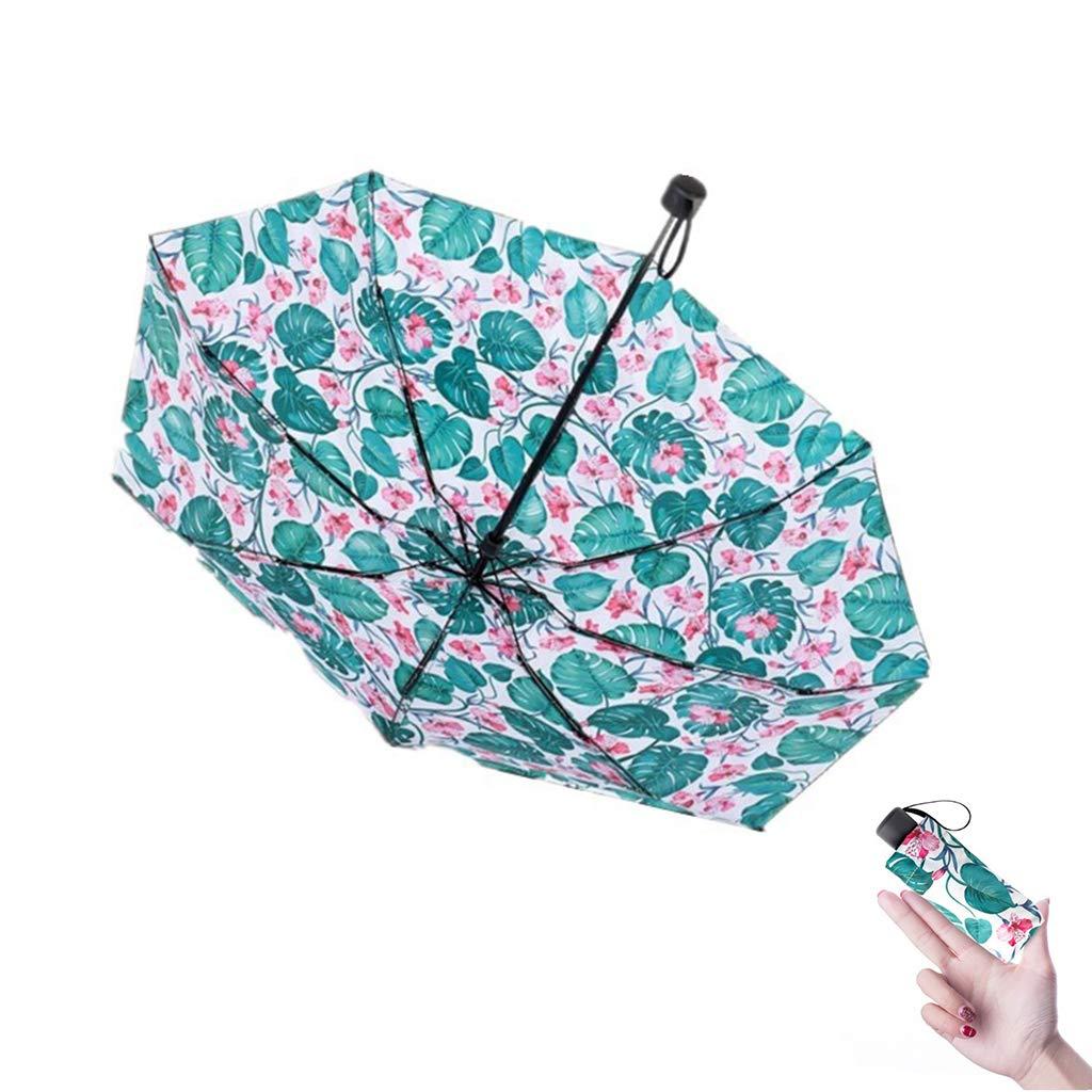 Portable Ultra Light Mini Compact Travel Umbrella - Vinyl Pocket Umbrella Windproof Umbrella Sun and rain Outdoor Golf Umbrella 95% UV Protection Ladies Men's Children