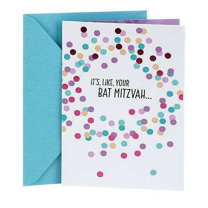 Amazon hallmark tree of life bat mitzvah greeting card hallmark tree of life bat mitzvah greeting card colorful dots m4hsunfo
