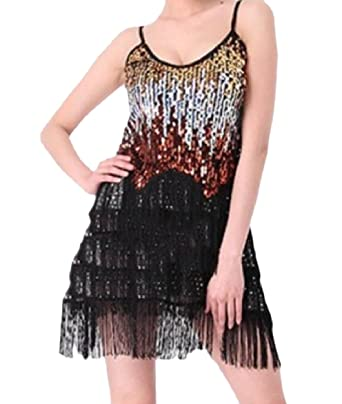 b3d84c119a Amazon.com: Winwinus Women's Sequin Latin Dance Premium Sling ...
