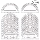 24 Pack Protractors Esee Plastic Protractor for School Teachers and Students, 6 Inch Math Clear Protractor