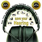 ClearArmor-141001-Shooters-Hearing-Protection-Safety-Ear-Muffs-Folding-Padded-Head-Band-Ear-Cups-Black