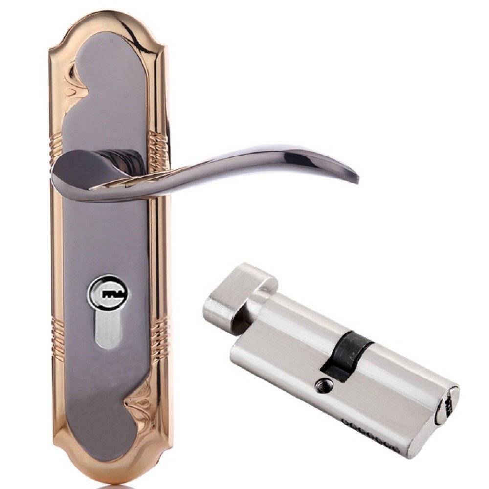 Door lock handle door lock indoor room door lock mute lock double tongue lock body,B