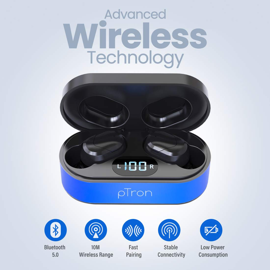 ptron bassbuds plus true wireless headset