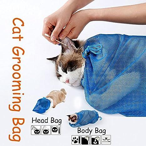 Donpandas - Bolsa de baño ajustable para gatos, bolsa de lavado para el baño,