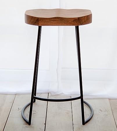 dennest aloha bar in stile industriale sedile in legno massiccio con gambe in ferro amazonit casa e cucina