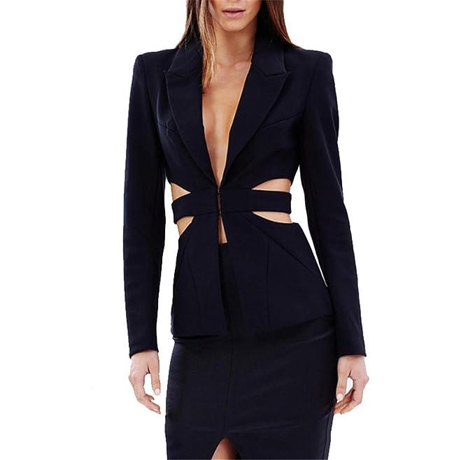 Amazon.com: Robin Santiago traje de mujer otoño Cool Slim ...