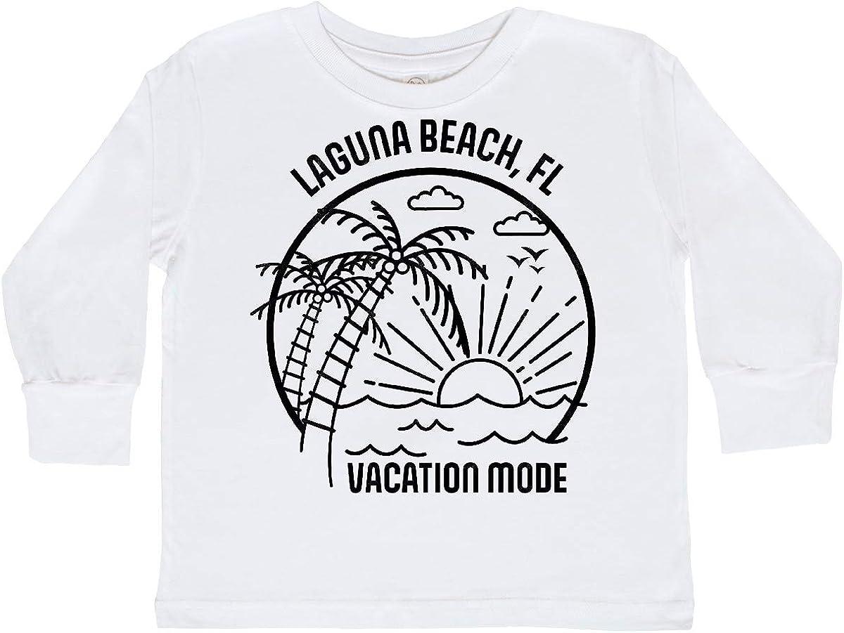 inktastic Summer Vacation Mode Laguna Beach Florida Toddler Long Sleeve T-Shirt