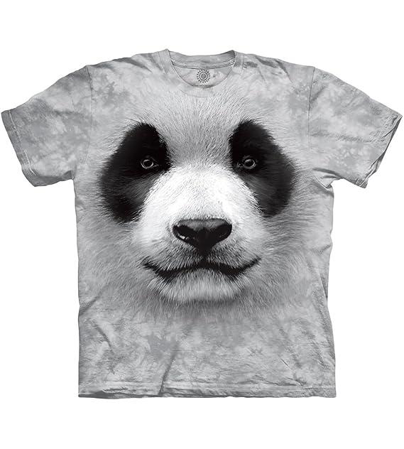 1ad318ffe032 Amazon.com  The Mountain Adult Unisex T-Shirt - Big Face Panda  Clothing