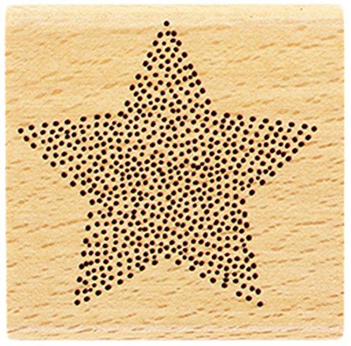 Florilè ges Design fd216067 timbro stella in punti legno 5 x 5 x 2, 5 cm 5cm Florilèges Design