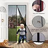 Aottop-Magnetic Screen Door- Heavy Duty Mesh and Full Frame Velcro Fits Doors Up to 34