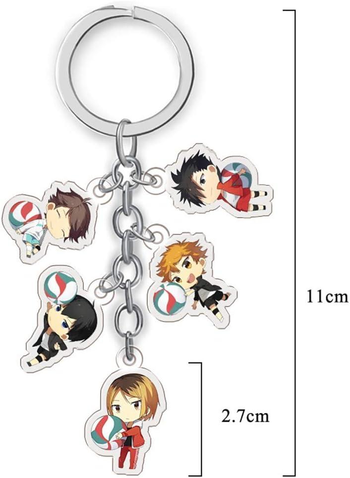 1Pcs japanischer Anime Haikyuu ! Zeichen transparenter Acryl-Schlüsselbund