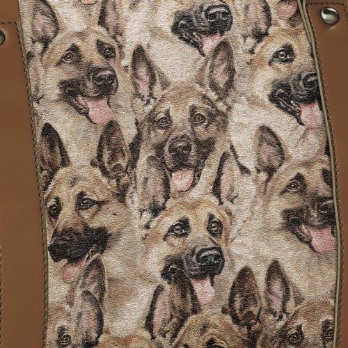 Constant Companion Dog Lovers Cotton Blend Tapestry Handbag: German Shepherd by The Bradford Exchange by Bradford Exchange (Image #1)