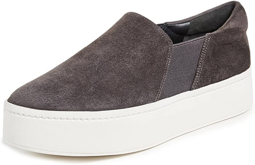 Warren Slip On Platform Sneaker, Steel