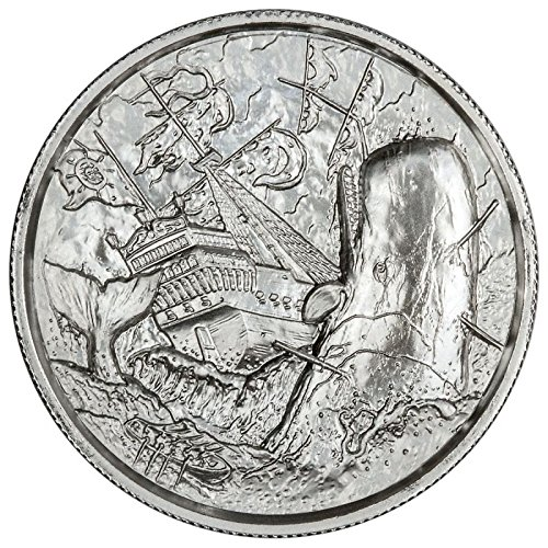2 oz Elemetal The White Whale Ultra High Relief Silver Round (Privateer Series #6, New) (2 Oz Privateer Ultra High Relief Silver Round)