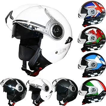 00a7a735 Leopard LEO-612 DOUBLE VISOR Open Face Motorbike Motorcycle Helmet Road  Legal - #3