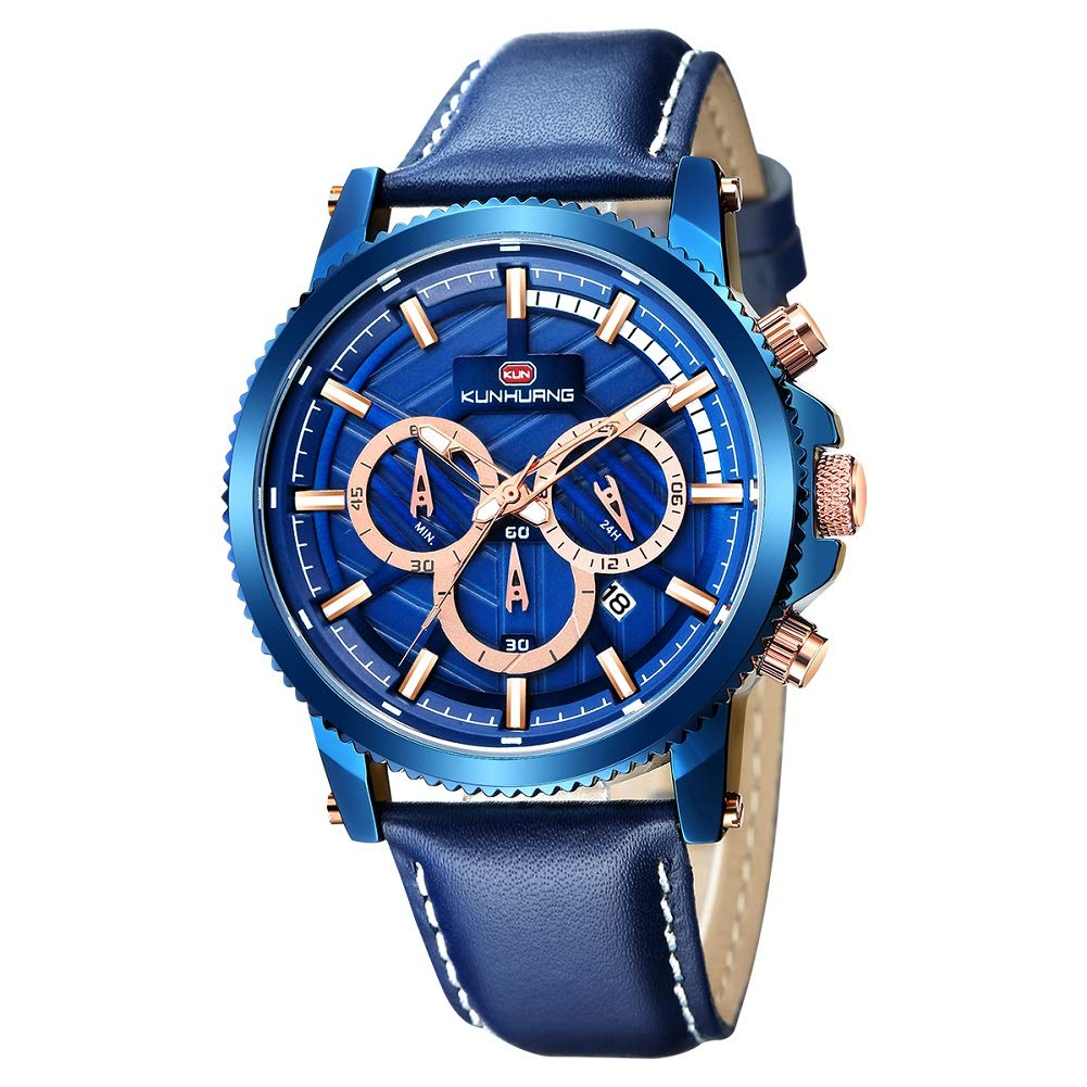 CDM product Fashion Watches for Men, Multifunctional Sport Waterproof Date Chronograph Casual Business Wrist Watches big image