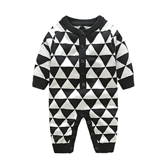 3e2b4862006 Fairy Baby Toddler Boys Girls Outfits Footless Knitted One-Piece Romper  Suits