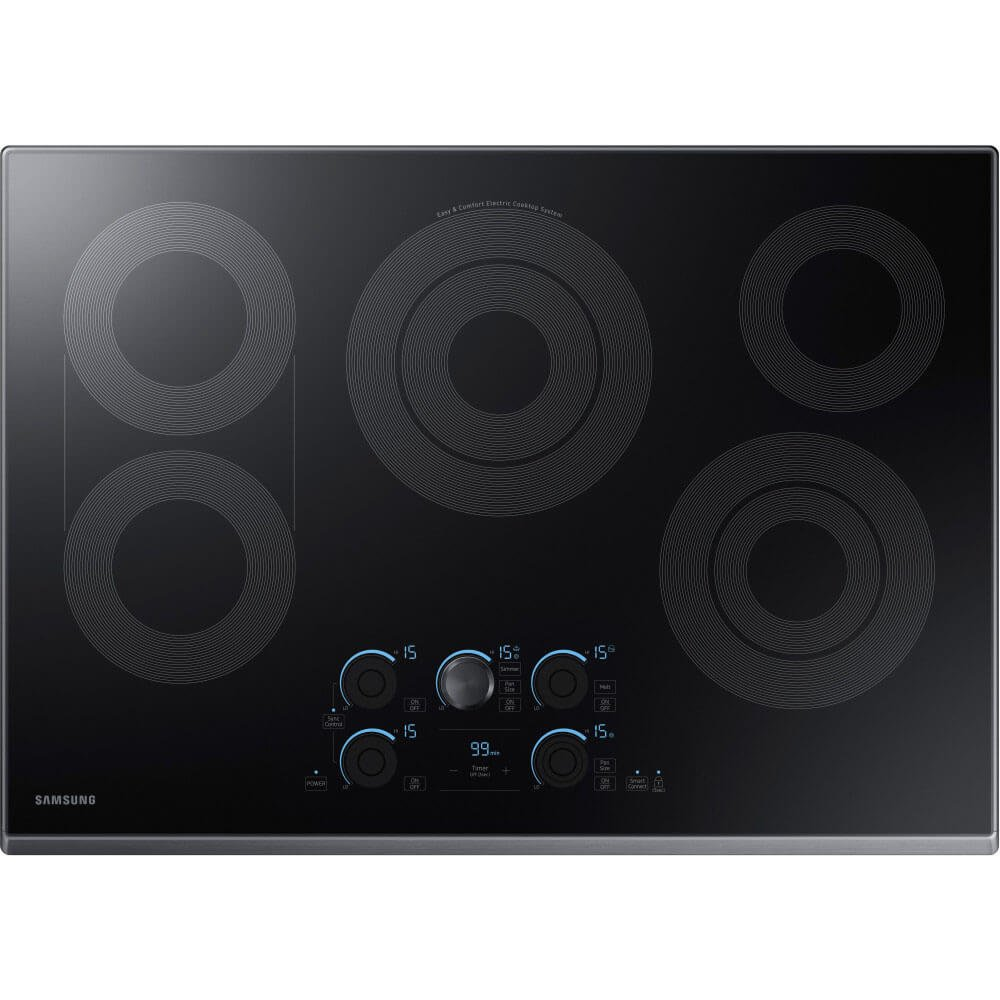 Samsung 30' Black Stainless Steel 5 Element Electric Smoothtop Stovetop Cooktop NZ30K7570RG NZ30K7570RG/AA