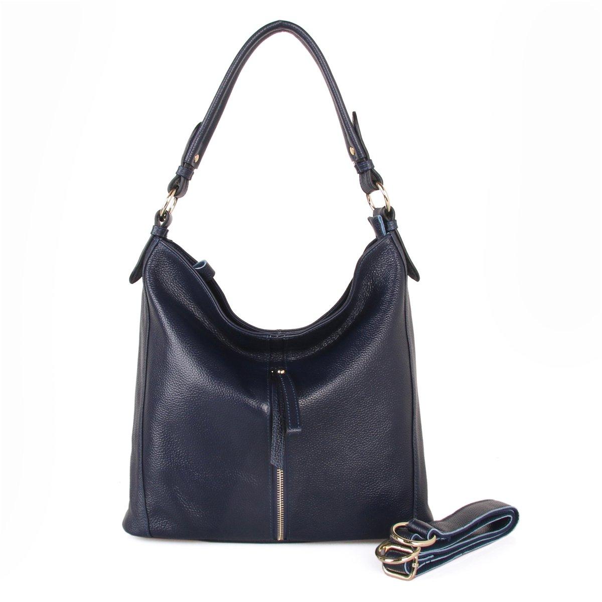 CDM product Giustino Womens Genuine Leather Handbag Shoulder Bag Top-Handle Handbags, Blue big image