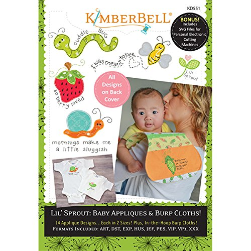 KIMBERBELL Lil' Sprout: Baby Appliques & Burp Cloths Machine Embroidery CD (KD551)