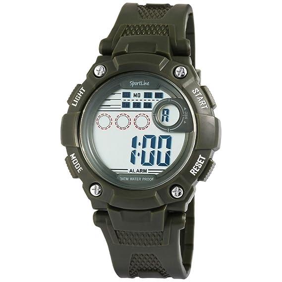 Reloj de pulsera cronómetro cronógrafo Digital Hombre Gimnasio Sport Entrenamiento verde oliva: Amazon.es: Relojes